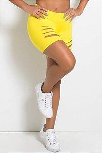 Bermuda Shakira Rasgada (Amarelo)