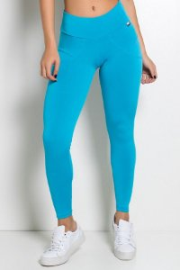 Calça Legging Levanta Bumbum (Azul Celeste)