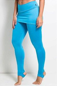 Legging com Tapa Bumbum e Pezinho (Azul Celeste)