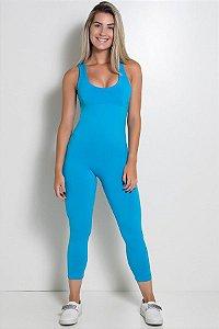 Macacão Liso Viviane (Azul Celeste)