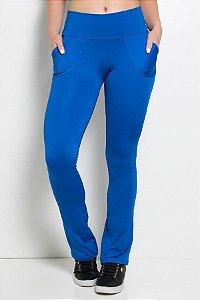 Calça Legging Bailarina Cores Lisas (Azul Royal)