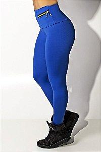 Calça com Bolso e Zíper Adele (Azul Royal)