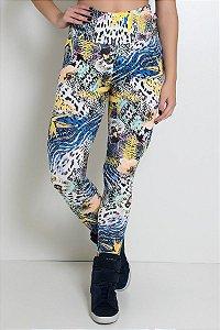 Legging Estampada (Floral com Oncinha)
