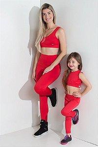 Kit com 5 (cinco) Leggings Infantis Cores Variadas (P)