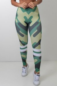 Calça Feminina Legging Sublimada Camouflage