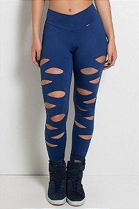 Calça Alana Rasgada (Azul Marinho)