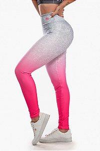 Calça Legging Sublimada Pink Fade