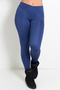 Calça Levanta Bumbum com Bolso (Azul Marinho)