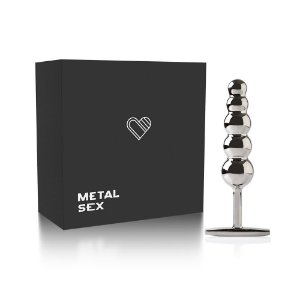 Plug Anal Metal Ball Steel - Cromado