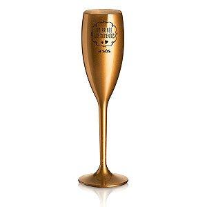 Taça Acrílica um Brinde aos Momentos - Dourada