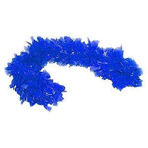 Estola de Penas para Eventos - Azul | Outlet