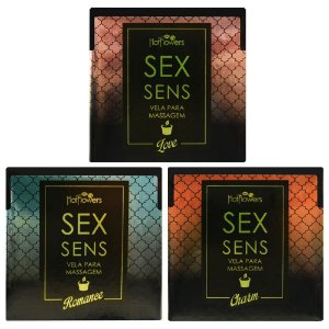 Vela Sex Sens Massagem Aromática 20g Hot Flowers