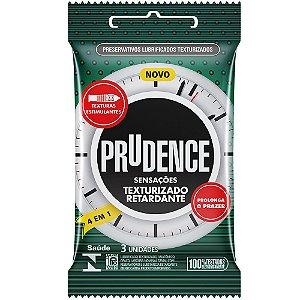 Preservativo Texturizado Retardante 3 Unidades Prudence