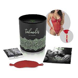 Kit Sensual Body Tailandês - Vermelho