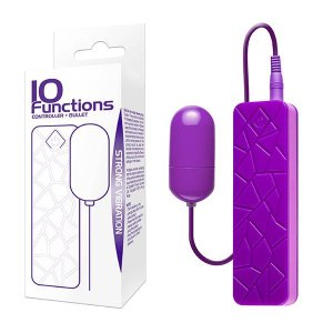 10 Funções - Bullet Vibratório com Controle Remoto
