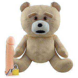 Pelúcia Urso Ted Com Prótese Universo da Pelúcia