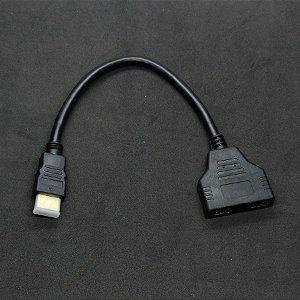 DIVISOR SPLITTER HDMI 1 HDMI MACHO PARA 2 HDMI FÊMEA