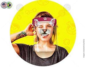 Protetor Facial Tema Gato