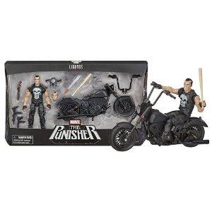 Marvel Legends Vehicles Punisher & Motorcycle 6-Inch Action Figure