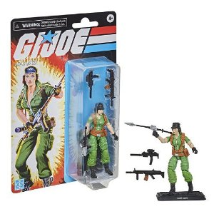 G.I. Joe Retro Lady Jaye 3.75-Inch Collectible Figure with Accessories
