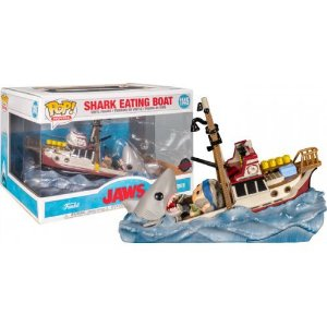 Funko Pop Movie Moments Jaws - Great White Shark Eating Quint & Orca Boat Exclusive