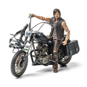 The Walking Dead Daryl Dixon And Motorcycle Chopper Deluxe Box Set