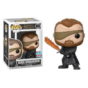Funko Pop Game of Thrones Beric Dondarrion with Flame Sword NYCC 2018