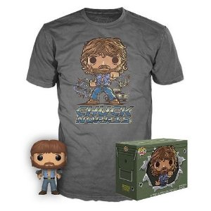 Funko Pop Movies Collectors Box: Chuck Norris Pop! & Tee - Gray (Exclusive)