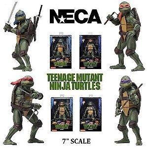 NECA Teenage Mutant Ninja Turtles 1990 Movie Action Figures Gamestop Exclusive - Set com 4