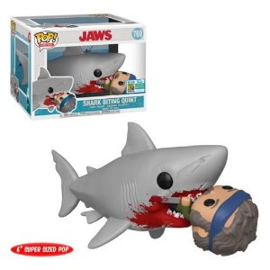 "Funko Pop Movies Jaws - Shark Biting Quint 6"" Super Sized SDCC 2019 Exclusive"