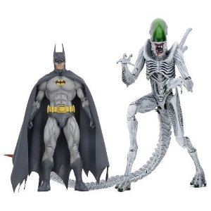 "NECA NYCC 2019 Batman/Aliens – 7"" Scale Action Figures – Batman and ""Joker"" Alien 2-Pack"