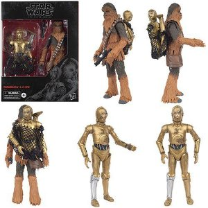 Star Wars The Black Series 6 Chewbacca & C-3PO - The Empire Strikes Back - Amazon Exclusivo