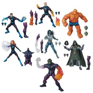 Marvel Legends Fantastic Four Wave 1 Set com 6 Figuras (Super Skrull BAF)