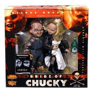 McFarlane Movie Maniacs Bride of Chucky Deluxe Boxed Set Chucky & Tiffany
