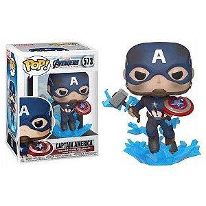Funko Pop! Marvel Avengers: Endgame - Captain America (Broken Shield & Mjolnir)