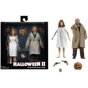 "NECA Halloween 2 (1981) – 8"" Clothed Action Figure – Dr Loomis & Laurie Strode 2-Pack"