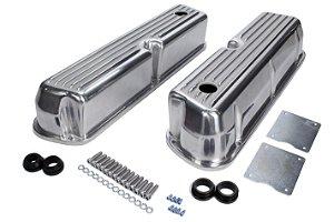tampa de válvula em alumínio polido Ford V8 289 / 302