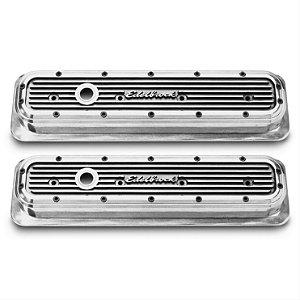 Tampa de válvulas em alumínio Elite series Edelbrock Gm chevy V8 305 350 1987-95