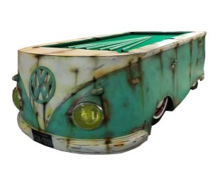Mesa de bilhar customizada Kombi 1959