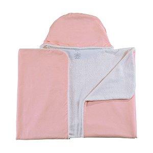 Toalha de Banho Abraço BioBaby Bebê Rosa