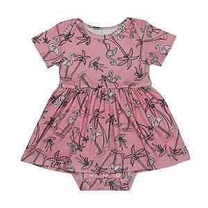 Vestido BioBaby Bebê Flamingo