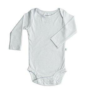 Body BioBaby Bebê Manga Longa Branco