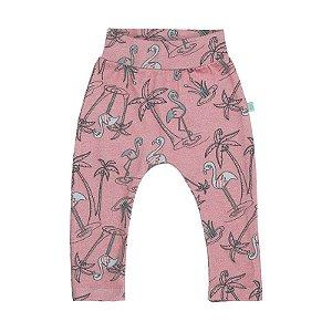 Calça BioBaby Bebê Flamingo Padrão