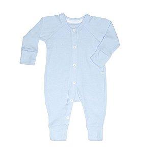 Macacão Longo Botão BioBaby Bebê Azul