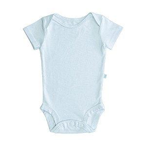 Body BioBaby Bebê Manga Curta Azul