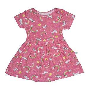 Vestido BioBaby Bebê Arco-íris