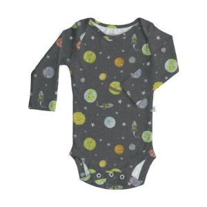 Body BioBaby Bebê Manga Longa Sistema Solar