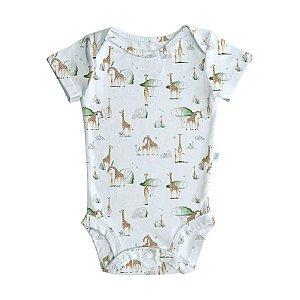 Body BioBaby Bebê Manga Curta Girafas