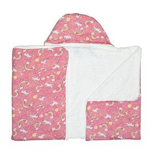 Toalha de Banho Abraço BioBaby Bebê Arco Íris