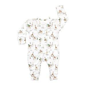Macacão Longo Botão BioBaby Bebê Girafas